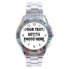 Personalized Custom Logo, Design, photo Stainless Steel Analogue Mens Watch
