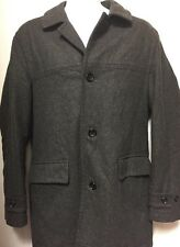 NEW LONDON FOG MENS LONG SLEEVE WOOL BUTTON DOWN GRAY WINTER COAT SIZE S