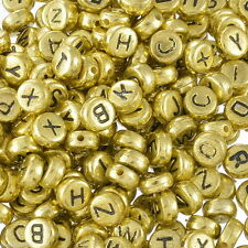 wholesale 1000pcs 4x7mm Acrylic Alphabet Letter Coin Round Flat Spacer Beads