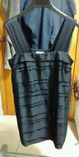 Gently Worn H&M Shop Navy madewell Tiered Panel Dress Top Sz EUR 38, US 8 uniqlo