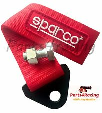 Red Sparco tow strap JDM racing belt new universal recovery hook race rally cars