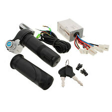 New 24V 250W Motorcycle Brush Speed Controller & Scooter Throttle Twist Grips