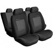 UNIVERSAL CAR SEAT COVERS full set  fits  VW Golf charcoal grey pattern 3