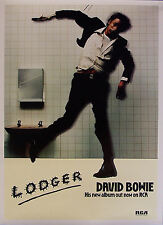 DAVID BOWIE LODGER PRESS ADVERT LAMINATED A4 MINI POSTER REPRO
