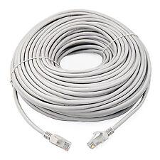 30m Cable de conexión de red Ethernet RJ45 Cat5E Lead 60ft LAN Router de módem de cielo gris