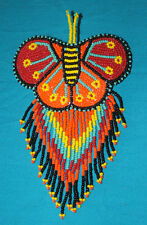 Barrette Beaded Butterfly w Fringe  French clip closure Hair accessory #47