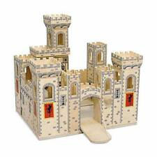 Melissa And Doug Deluxe TOY CASTLE, Wooden Construction Folding CASTLE PLAYHOUSE