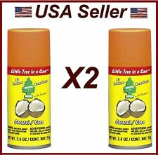 Little Trees In Can Air Freshener 2 Pack Coconut Scent Auto, Home, & Office.