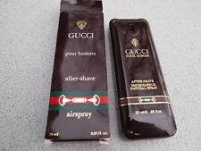 GUCCI Pour Homme AFTER-SHAVE Airspray 25ml .85oz NEW IN BOX