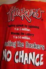 NEBRASKA HUSKERS Cornhusker Football NCAA Short Sleeve T-Shirt-Sz.L-New w/ Tags!