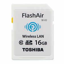 Toshiba Flash Air 16GB Class 10 Wireless Memory Card / Wifi SD Card FOR CANON