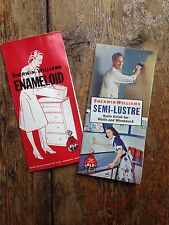 Vintage interior house paint brochures chips Sherwin- Williams enamel 1940's MCM