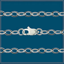 """Sterling SILVER 925 MEDIUM CABLE CHAIN 24"""""""