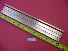 "4 Pieces 1/4""x 1/2"" C110 COPPER BAR 12"" long Solid Flat .25"" Bus Bar Stock H02"