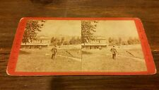 At Turners Station / Ramapo, Erie Railway 1870's Stereoview Railroad RR No.6245