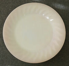 Fire King Anchor Hocking Oven Ware Pink Swirl Salad Plate EUC