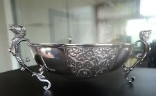 SUPER Edwardian Silver Bowl Chester 1910 Jay Richard Attenborough - Rams Heads