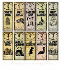 Halloween 10 apothecary labels Halloween Noises witch ghost rat bat glossy