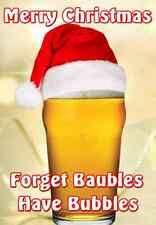 Pint Drinking Christmas Card PIDXM6  Mum dad son sister aunt any name