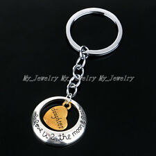 Charm Keyring Keychain Hot Xmas Daughter Fashion Family Heart Key Ring Chain
