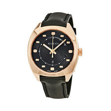 Gucci GG2570 Black Dial Rose Gold-tone Ladies Watch YA142407