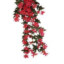 Artificial 5-Bunch Vine Hanging Plants Lily Flower Garland Decor Rose Red