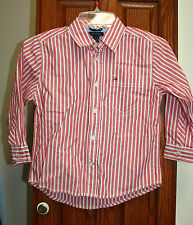 Tommy Hilfiger Boys NWT 3T Red/white stripe long sleeve shirt Christmas/Holidays