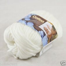 Sale New 1 Skein x 50g Soft Pure Cotton Chunky Super Bulky Hand Knitting Yarn 02