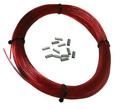 SPEARGUN MONO COIL 100ft 250# w/ 12 pcs CRIMPS, RED