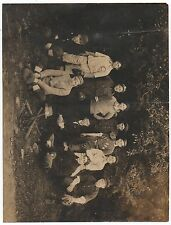 Large 1900 Photo of the Carbon Baseball Team in Uniforms with Bats