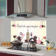Wine Glass Coffee Cup Home Kitchen Art Decor Wall Sticker Waterproof Oilproof #