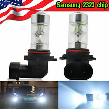 2X H10 9145 6000K White 60W Samsung 2323 LED Fog Lights 800LM DRL Driving Bulbs