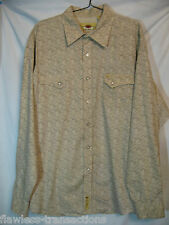 RARE Size 4X LARRY MAHAM Mens Western Square Dancing Cowboy Snap Cotton Shirt