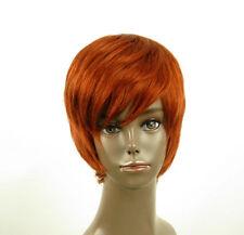 perruque afro femme 100% cheveux naturel courte cuivré intense ref LAET 02/130
