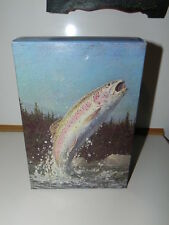 OLD New in Original Box; Avon bottles:  Rainbow  Trout  Deep Woods After shave