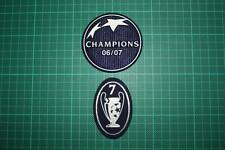 UEFA CHAMPIONS LEAGUE WINNER and 7 TIMES TROPHY BADGES 2006-2007