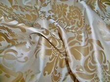 SILK LOOM FORTUNY STYLE VENETIAN PRINTED SILK FABRIC 10 YARDS CREAM GOLD
