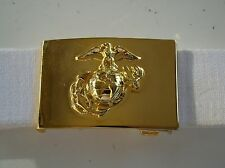 USMC US MARINE CORPS MARINES NCO EAGLE GLOBE & ANCHOR DRESS BLUES BELT & BUCKLE