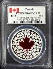 2013 Proof Canada Twenty Dollar, Maple Leaf Impression coin! PR 69 DCAM!