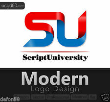 Modern Logo Design with Revisions + Custom, Vector, Professional, Flat, Trendy