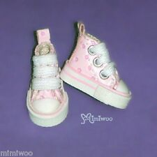 "Mimi Collection 12"" Neo Blythe Pullip Bjd Doll MICRO Shoes Dot Sneaker PINK"