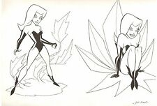 Poison Ivy Style Guide - DC Animated Bruce Timm Style - art by Doescher & Amash