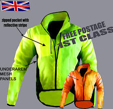 CYCLING JACKET HIGHLY VISIBILITY /HI VIZ WATERPROOF/BREATHABLE RUNNING  RIDING !