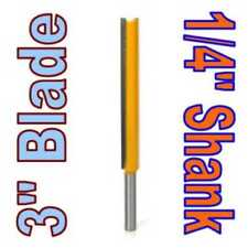 "1 pc 1/4"" SH 3"" Blade Extra Long Straight Router Bit sct-888"