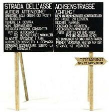 MODEL VICTORIA ITALIAN & GERMAN ROAD SIGNS WWII NORTH AFRICA SET 2 1:35 Cod.4060