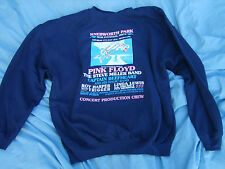Pink Floyd rare Knebworth Edwin Shirley  1975 production crew Sweatshirt