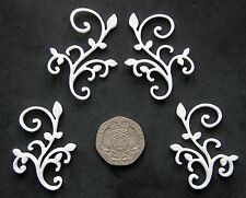 4 Flourishes with Leaves - Lace Mould by Fairie Blessings