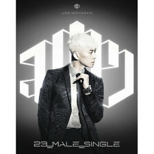 2PM JANG WOO YOUNG-[23,MALE,SINGLE] 1st Mini Ablum SILVER CD+Photocard+Photobook