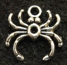 10Pcs. Tibetan Silver SPIDER Halloween Charms Pendant Earring Drops Finding IN16