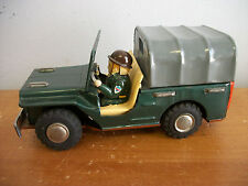 Vintage Made In Japan US ARMY JEEP & Driver Friction Vehicle circa 1950s